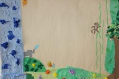 Olars 2. 10-11 år Djungel-collagearbete Antonia